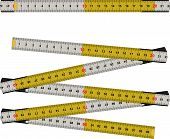 pic of meter stick  - illustration of folding as a means of measuring the woodwork - JPG