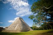 stock photo of mayan  - A mayan pyramid - JPG