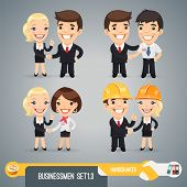 picture of respect  - Businessman Cartoon Characters Set1 - JPG