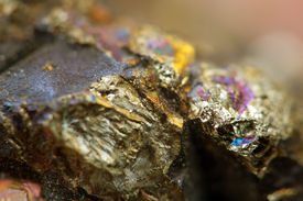 stock photo of bronze silver gold platinum  - Abstract background from a Crystal mineral - JPG