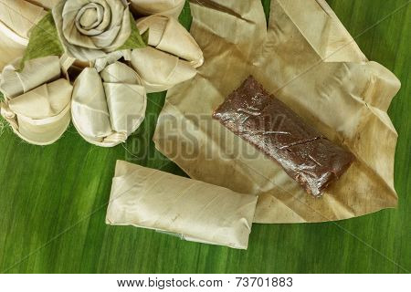Banana Candy, Thai Style Sweet Candy. It Is Very Sweet And Sticky.