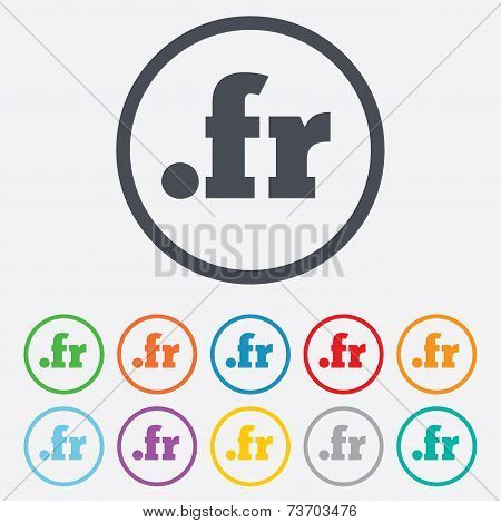 Domain FR sign icon. Top-level internet domain