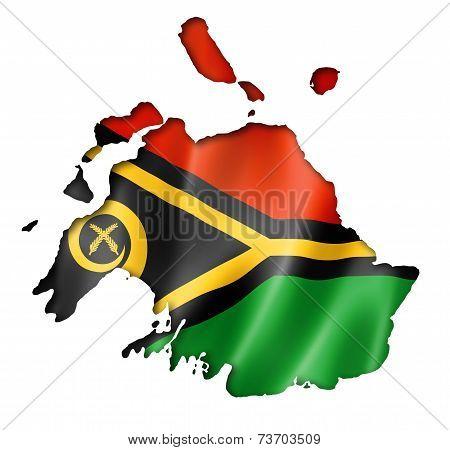 Vanuatu Flag Map