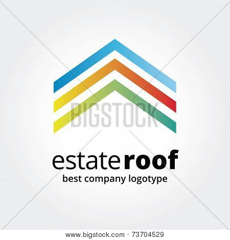 Abstract house logo icon concept isolated on white background for business design. Key ideas is busi