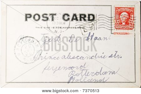 Vintage Postcard Of 1906 From The Usa To The Netherlands