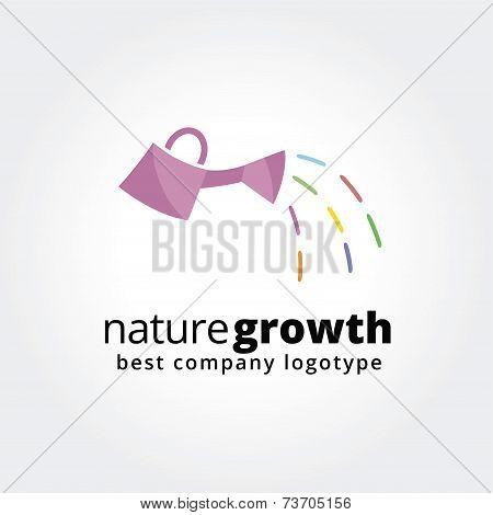 Abstract waterpot logo icon concept isolated on white background for business design. Key ideas is b