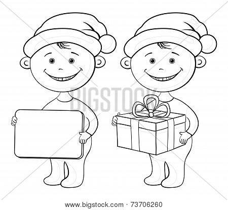 Children Santa Claus outline
