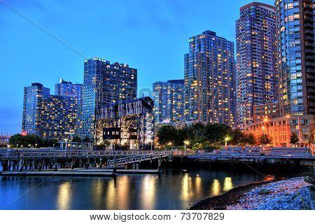 Skyline Of Long Island, New York