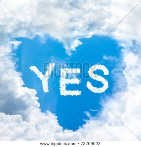 Say Yes Concept Tell By Shy Cloud Nature