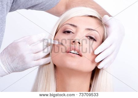 Beauty Woman Giving Injections