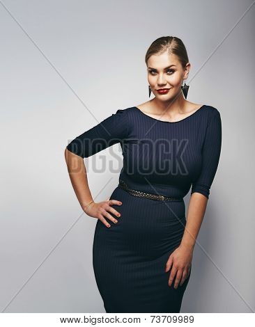 Chubby Young Woman Posing Confidently