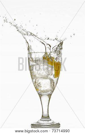 Glass of Splashy Bubbles