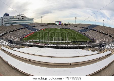 HARTFORD - OCTOBER 10:  Rentschler Field stadium between US Men`s National Team vs Ecuador, on October 10, 2014, in Rentschler Field stadium, Hartford, USA.