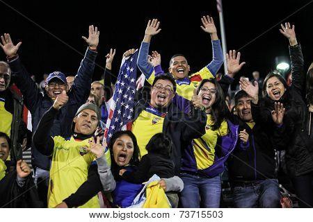 HARTFORD - OCTOBER 10:   Unidentified people  at U.S. Men`s International Friendly  vs Ecuador at Rentschler Field on October 10, 2014 in East Hartford,