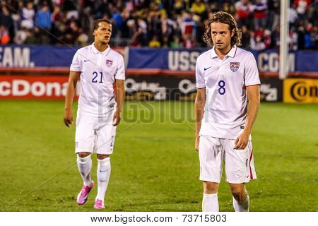 HARTFORD - OCTOBER 10: Mix Diskerud #8 on US International Friendly match between US Men`s National Team vs Ecuador,  on October 10, 2014, in Rentschler Field stadium, Hartford, USA.