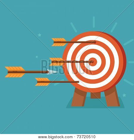 Vector aim with arrows on flat style