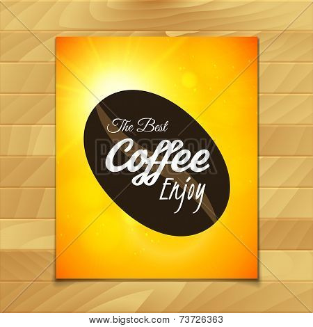 Menu template for restaurant, the best coffee enjoy, use for cafe, bar of coffeehouse