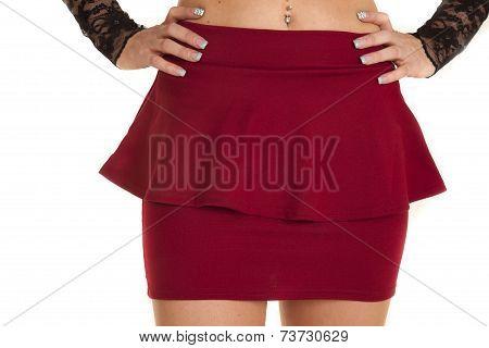Close Up Short Ruffle Red Skirt