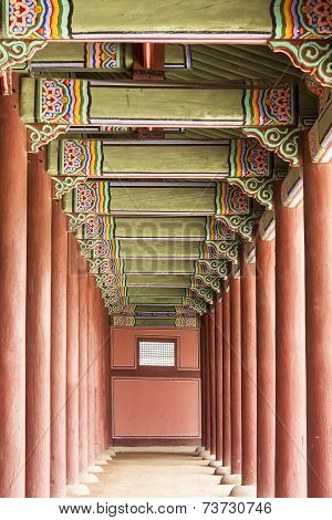 Korean Palace Corridor