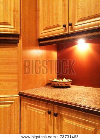 Kitchen In Warm Orange Colors