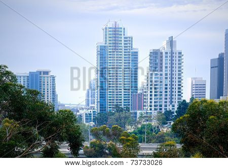 Downtown City and Freeway, San Diego California USA