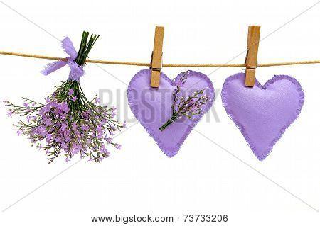 sea lavender and hearts