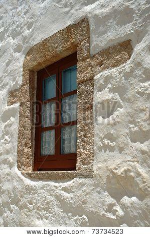 New window in old Greek house