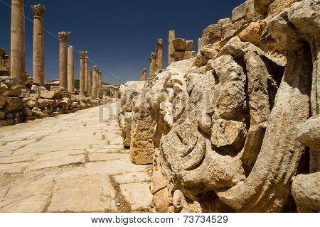 Main Road, Jerash, Jordan, Detail
