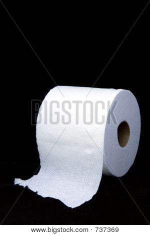 Toilet Paper on Black