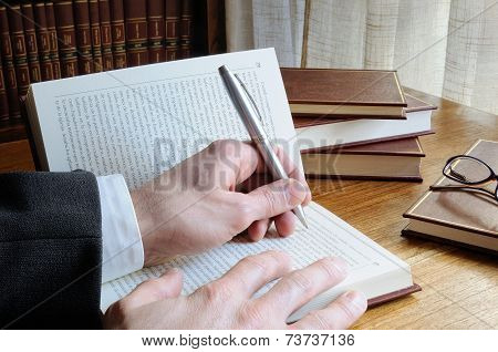 Men Seeking References In A Book