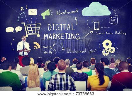 Business People in a Digital Marketing Seminar