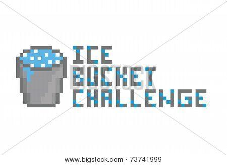 Ice Bucket Challenge pixel art icon