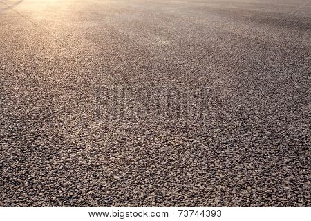close-up new asphalt road