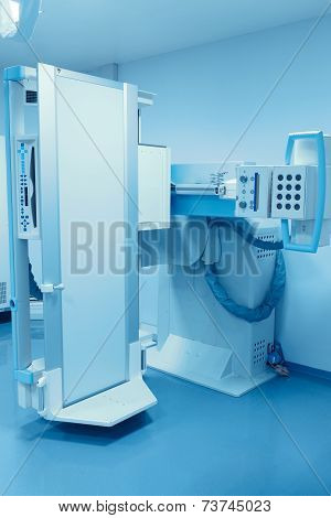 Stationary X-ray Machine. The Modern Medical Equipment.