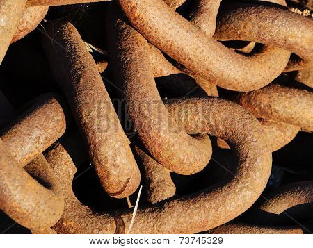 Old Rusty Anchor Chains
