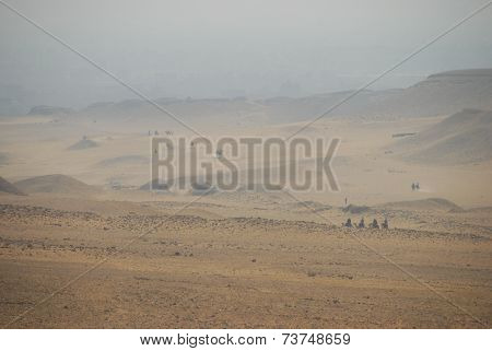 Desert in Egypt-near the Pyramids of Gizeh