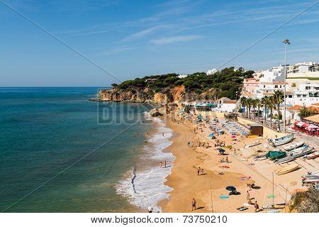 Olhos De Agua Beach In Albufeira, Portugal