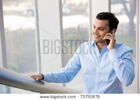 Man Talking Over The Phone