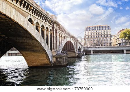 Wilson Bridge Over The Rhone River
