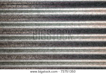 Zinc Galvanized Corrugated Metal Texture Horizontal