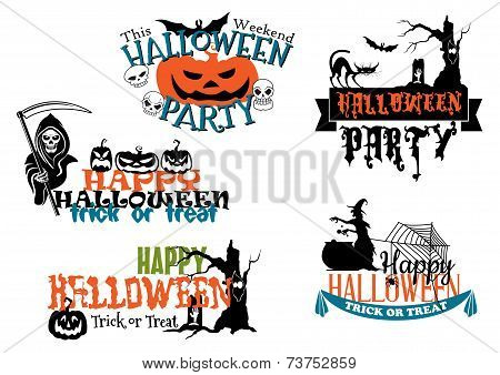Happy Halloween posters and banners
