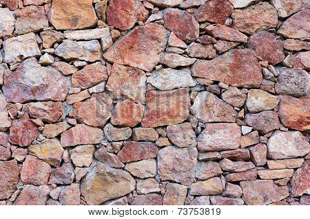 accidentally inserted into a stone wall texture of red stones