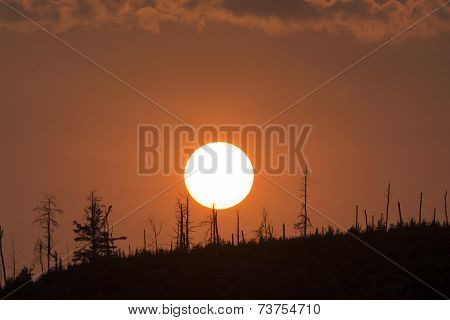 Sunset Over A North Woods Ridge