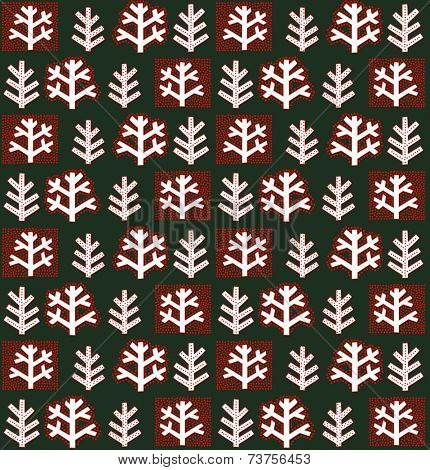 Winter abstract floral wallpaper. Raster copy