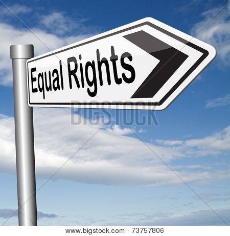 equal rights equality for all man and women