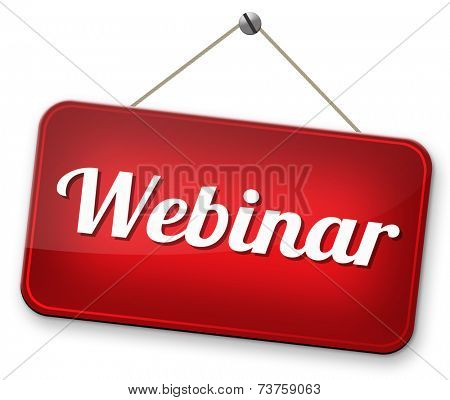 online workshop webinar or online smeminar meeting or conference