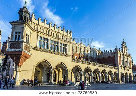 People On The Main Market Square Near Sukiennice, Cloth Hall