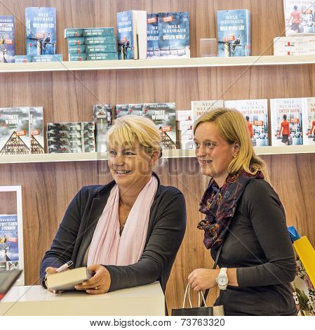 Public Day For Frankfurt Book Fair, Visitors Gets Signature And Photo With Nele Neuhaus
