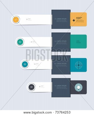 Minimal Infographic Elements Step By Step Template Design