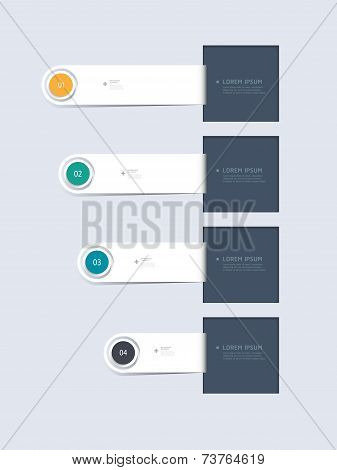 Minimal Infographic Step By Step Template